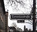 Straßenschild Comeniusstraße 16 – 1, Düsseldorf-Oberkassel.jpg