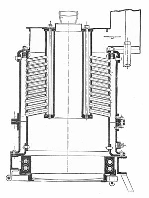 Straker-Squire - 1902 boiler, section