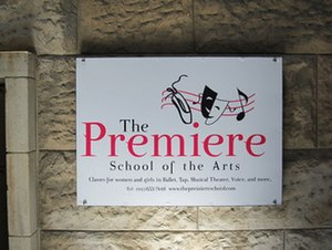 Straus Street - Entrance to the Haredi Premiere School of the Arts in the Histadrut building.