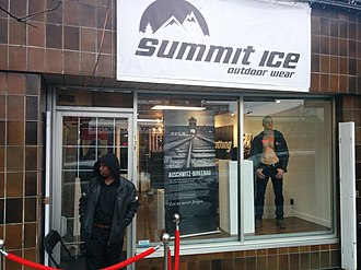 Nathan Fielder - Summit Ice pop-up store in Vancouver, Canada in March 2017