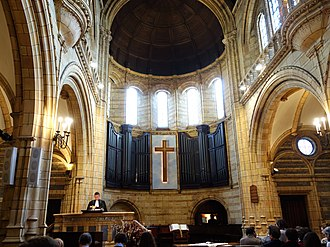 French Protestant Church of London - Image: Sunday Service at the French Protestant Church of London