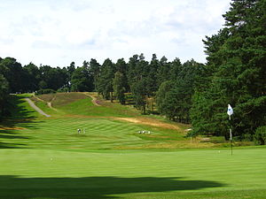 Sunningdale Golf Club - 10th fairway of the Old Course, as seen from the green in 2008