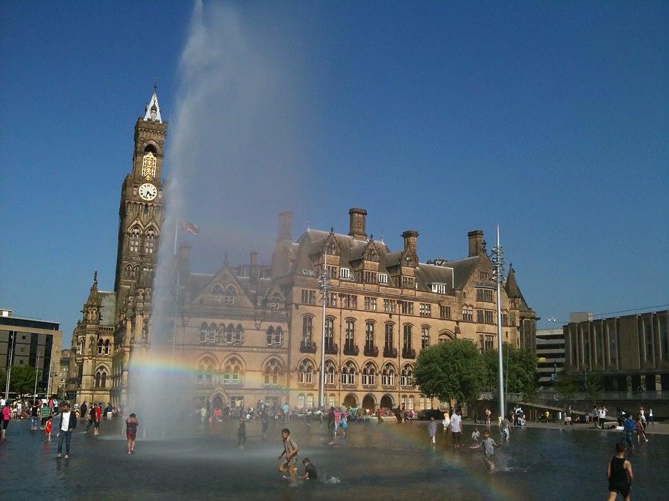 Sunny day in the Bradford City Park