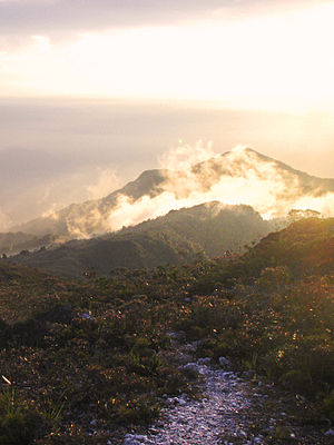 Mount Tahan - Image: Sunset near Kem Botak, Gunung Tahan