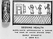 Suppliants approaching a shrine, seeking health. Wellcome M0011143.jpg