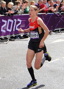 Tijdens de marathon van Londen in 2012.