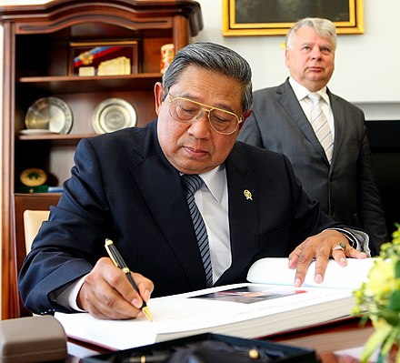 Yudhoyono in the Polish Senate in 2013. - Susilo Bambang Yudhoyono