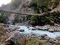 Suspension bridge, Annapurna, Nepal, River crossing.jpg