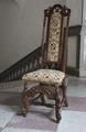 Svarvad stol med korsstygnsbroderi, 1700 cirka - Skoklosters slott - 103807.tif