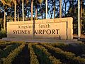Sydney Airport sign at the entrance of Sir Reginald Ansett Drive at the Sydney Domestic Terminal in Mascot.jpg