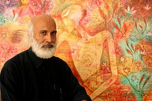 Syed Thajudeen - Syed Thajudeen has truly established his niche as one of Malaysia's distinguished figurative painters with a unique lyrical and poetic style