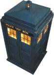 The TARDIS, the Doctor's spaceship, has become as ubiquitous as the show itself in British popular culture.