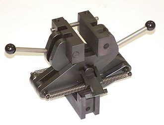 Fixture (tool) - A common type of fixture, used in materials tensile testing