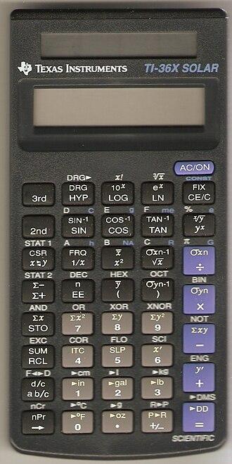 TI-36 - TI-36X Solar, 1993 Revision