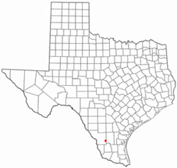 Location of Bruni, Texas