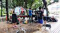Taipei Yuehfu Drum and Bugle Corps Practicing in Rainy Day 20140607.jpg