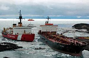 USCGC Polar Sea (WAGB-11) - Image: Tanker Paul Buck, USCG Polar Sea, RV Nathaniel Palmer