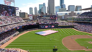 Target Field - Armed Services Appreciation Day, on July 3, 2011. The Twins set a three-game series attendance record (123,385) against the Milwaukee Brewers.