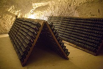 Taittinger - Bottles in the cave