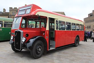 Thames Valley Traction - A preserved Thames Valley 1948 Bristol L bus, at a bus rally in Taunton, Somerset