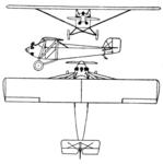 Taylor Chummy 3-view Le Document aéronautique February,1929.png