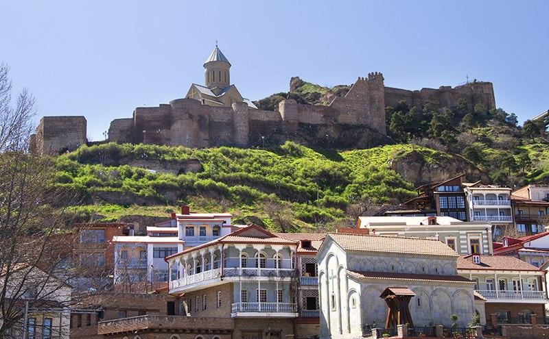 Tbilisi, Georgia — Old Tbilisi & Narikala Fortress