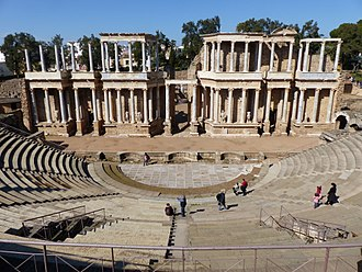 The Roman Theatre in Merida Teatro de Merida, Espana, 2017 18.jpg