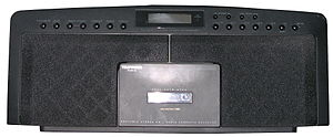 Telefunken - A modern Telefunken RC 881 cassette, CD player, and radio.