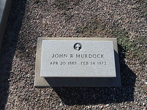 John R. Murdock - The grave site of John Robert Murdock (1885 - 1972). He is buried in sec. 9 in the historic Double Butte Cemetery