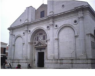 Byzantine Empire under the Palaiologos dynasty - Plethon's final resting place was moved to the Tempio Malatestiano in Rimini, Italy by his Italian disciples.