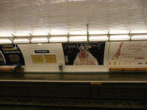 Temple (Paris Métro) - Image: Temple Metro, Paris