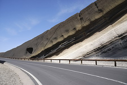 Volcanic rock strata on Tenerife