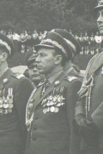 Internal Military Service - General Teodor Kufel as a chief of Military Internal Service, 1972.