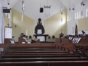 Trappists - Trappist monks in Pertapaan Rawaseneng, Indonesia, are celebrating Terce.