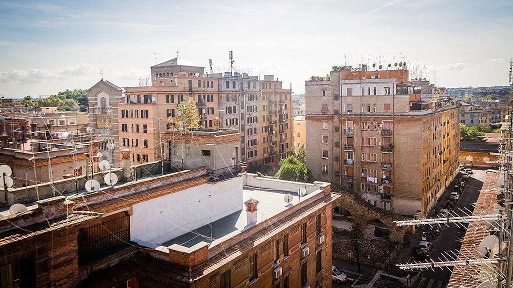 Vue sur le quartier du Testaccio à Rome - Photo de N i c o l a
