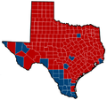 Texas Senate Election Results by County, 2012.png