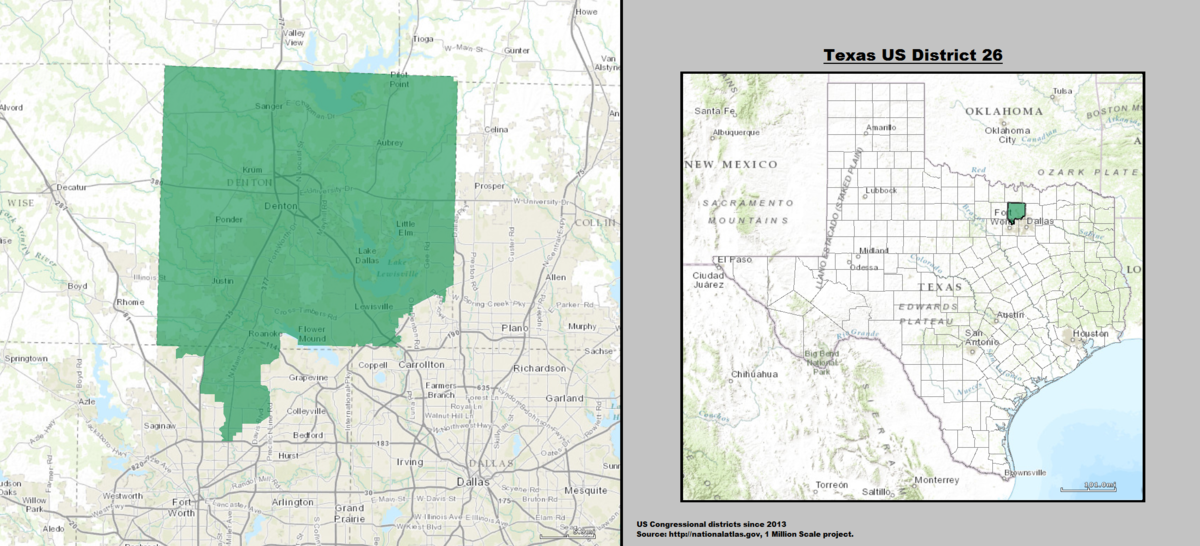 District Map Of Texas.Texas S 26th Congressional District Wikipedia