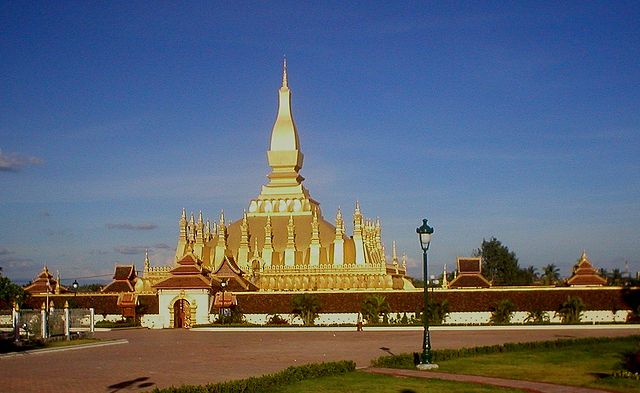 The stupa 'That Louang' in Vientiane