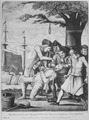 The Bostonian's Paying the Excise-Man, or Tarring & Feathering. Copy of mezzotint attributed to Philip Dawe, 1774., - NARA - 532889.tif