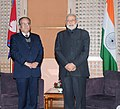 The Chairman, UCPN(M), Shri Pushpa Kamal Dahal Prachanda meeting the Prime Minister, Shri Narendra Modi, in Kathmandu, Nepal on November 25, 2014.jpg