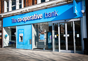 The Co-operative Bank - The Co-operative Bank branch in Ealing, West London