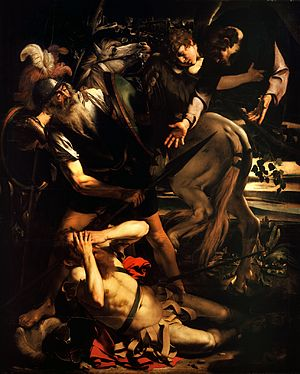 The Conversion of Saint Paul (Caravaggio) - Image: The Conversion of Saint Paul Caravaggio (c. 1600 1)