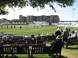 A view of the County Ground, Hove.