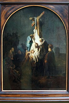 Rembrandt C 1633 The Descent Of Cross One Three Paintings S Pion Cycle For Frederick Henry Prince Orange Oil Painting