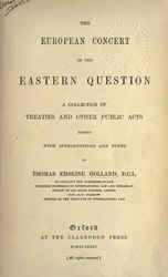 The European Concert in the Eastern Question