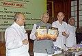 The Lok Sabha Speaker, Shri Somnath Chatterjee releasing first Newsletter entitled 'Akshay Urja' in New Delhi on March 22, 2005.jpg