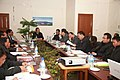 The Minister of State (Independent Charge) for Development of North Eastern Region, Shri Paban Singh Ghatowar attending a meeting with the Mizoram Chief Minister, Shri Lal Thanhawla and Mizoram Council of Ministers.jpg