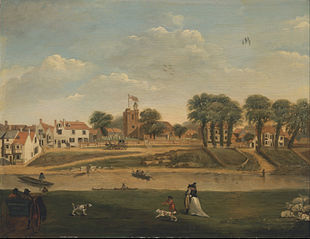 The Old Parish Church and Village, Hampton-on-Thames, Middlesex, 18th century