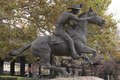 The Pony Express statue is made by sculptor Thomas Holland in Old Sacramento, California LCCN2013633899.tif