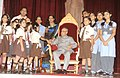 The President, Shri Pranab Mukherjee with the Children, on the occasion of 'Raksha Bandhan', at Rashtrapati Bhavan, in New Delhi on August 29, 2015.jpg